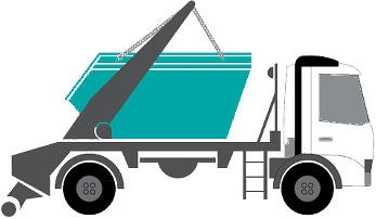 Apex skip hire lorry